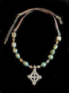 Ethiopian Cross & Pearl Set - Sunroot Studio