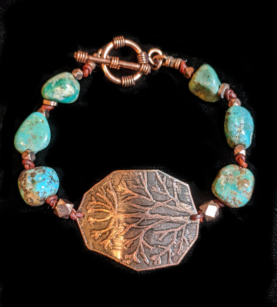 Art and Metal Jewelry - Copper Dill Bracelet - Sunroot Studio