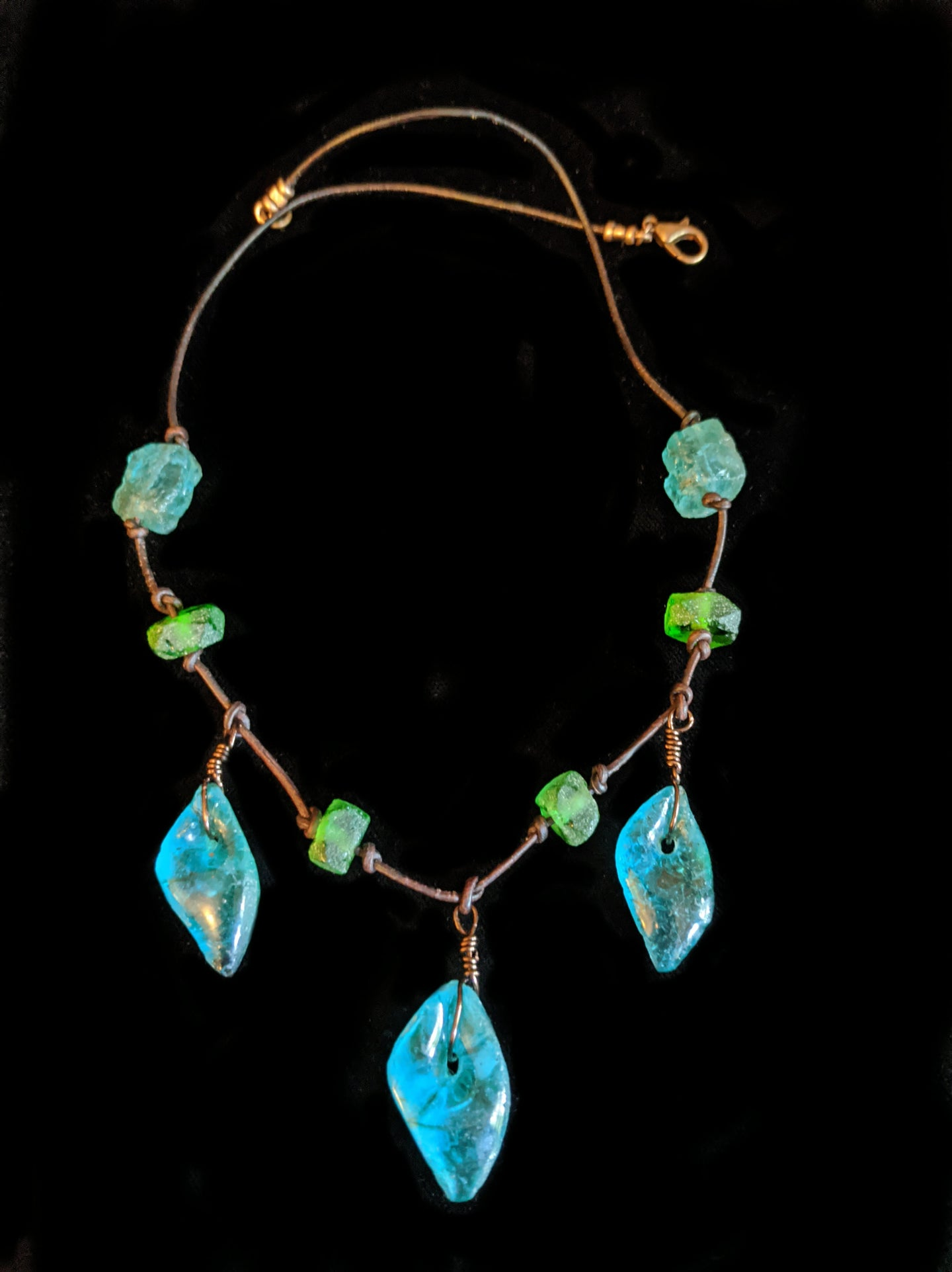 african glass necklace - sunroot studio
