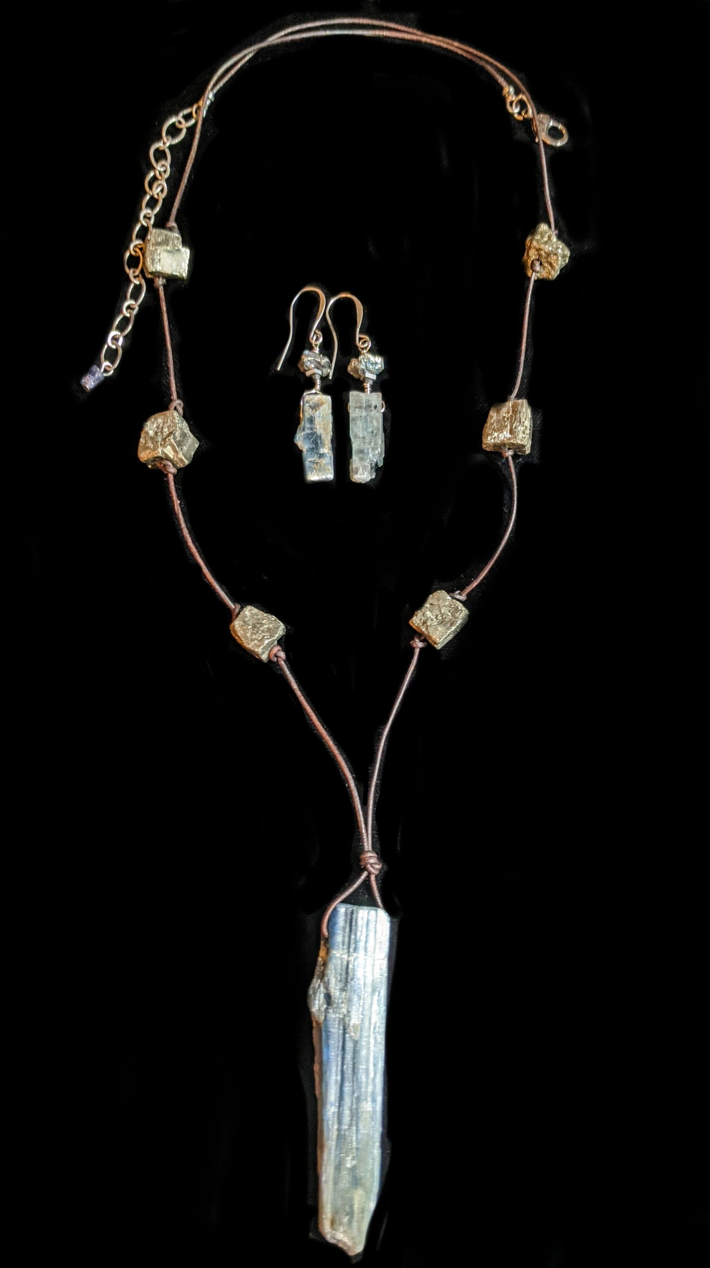 kyanite & pyrite set - sunroot studio
