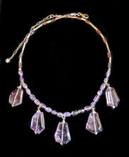 Load image into Gallery viewer, Quartz & Amethyst Necklace Set - Sunroot Studio