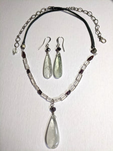 Green Amethyst Necklace Set - Sunroot Studio