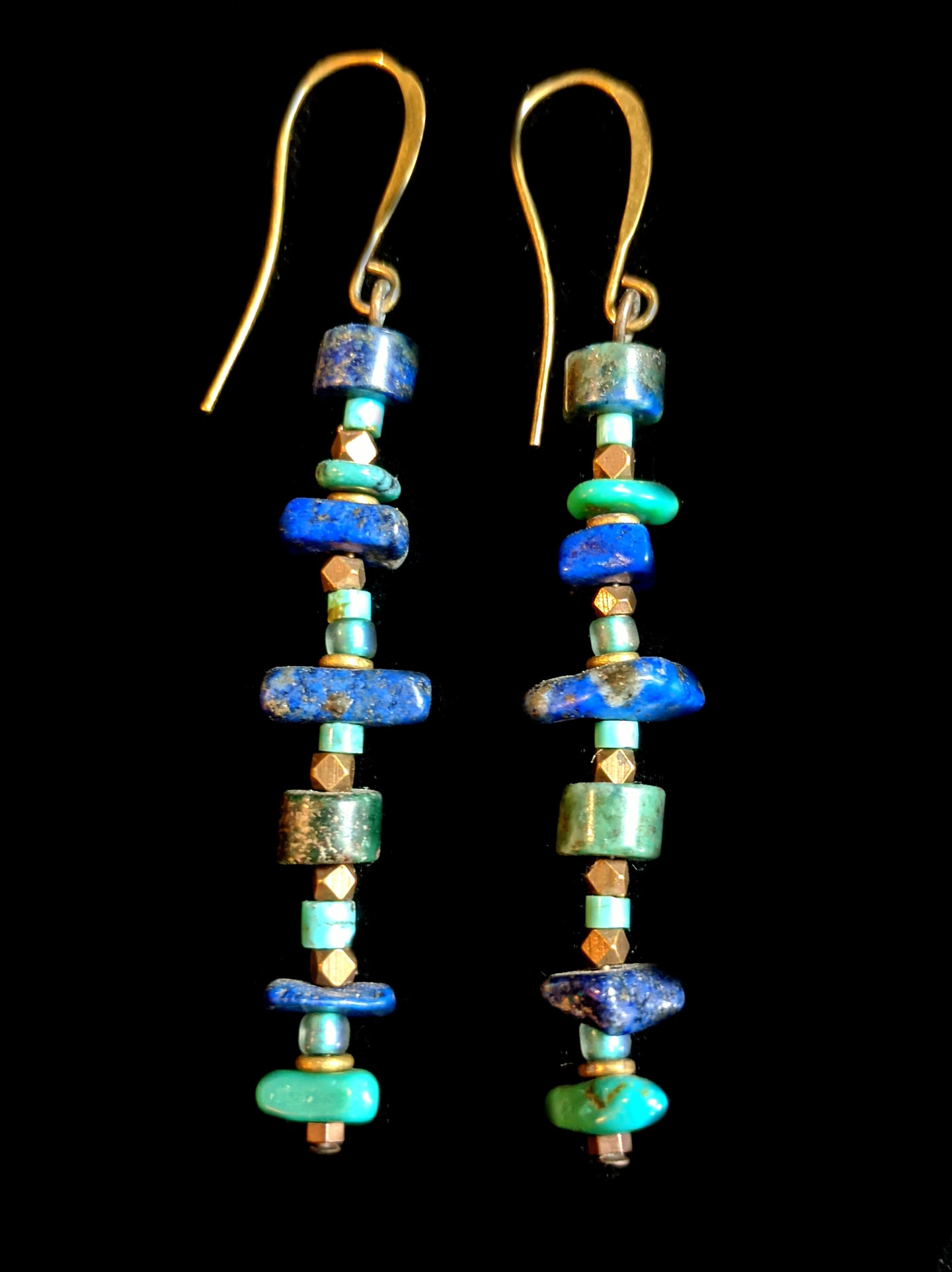 lapis & turquoise earrings - sunroot studio