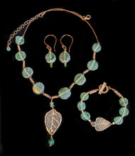 leaf & roman glass set