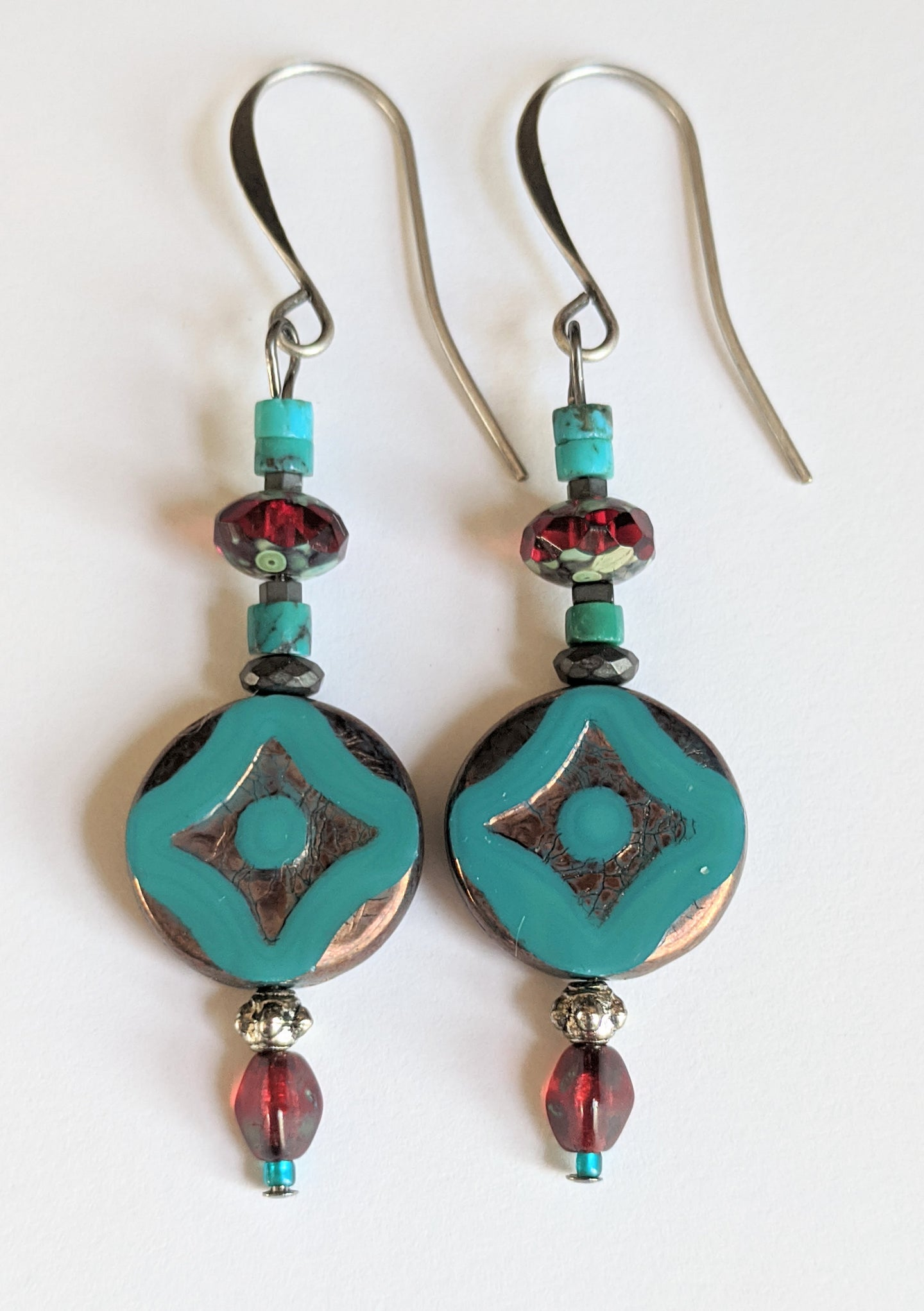 mosaic tile earrings # 10 - sunroot studio