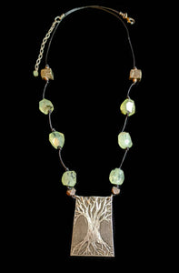 Nickel Silver Tree & Prehnite Set