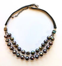 pearl & pyrite necklace - sunroot studio