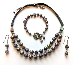 Pearl & Pyrite Set # 1 - Sunroot Studio