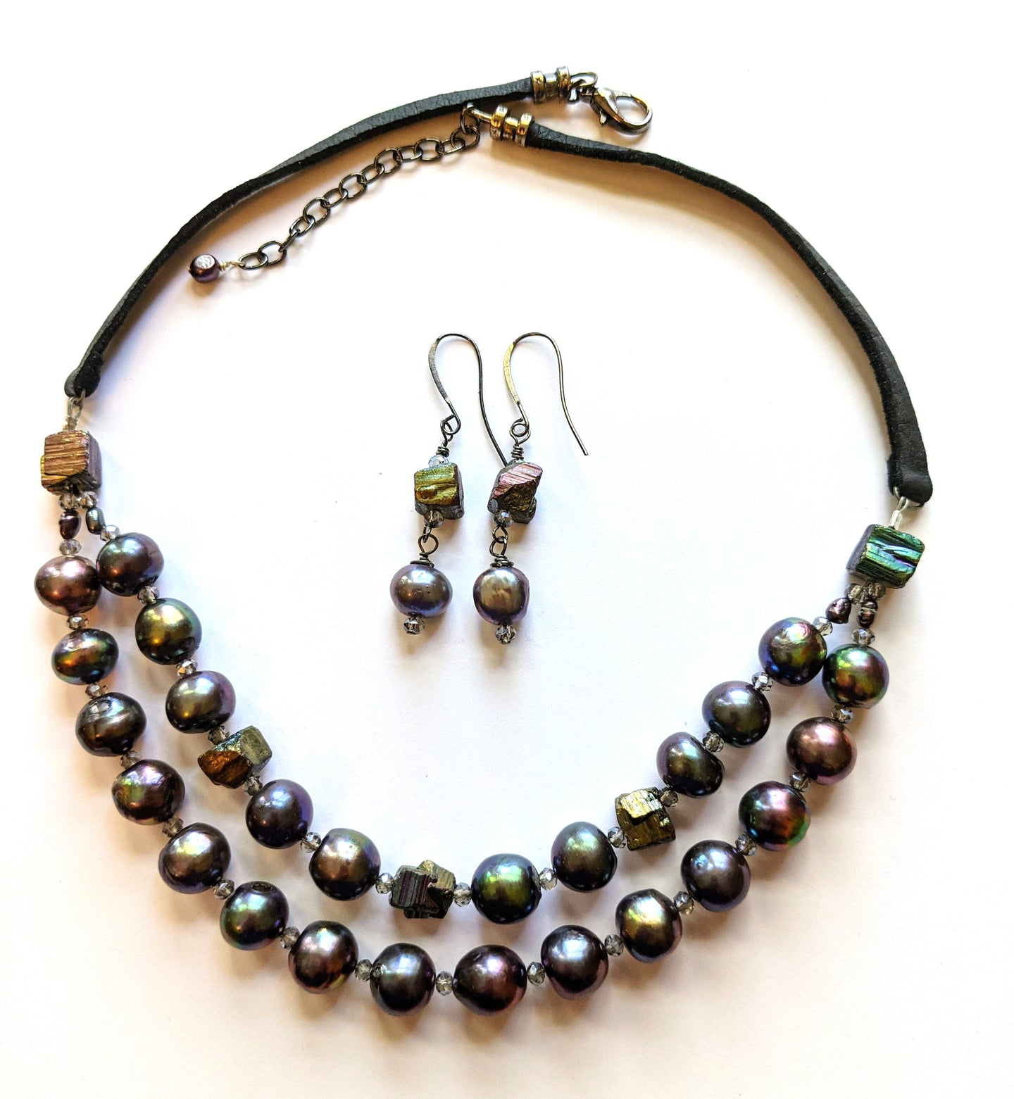 pearl & pyrite set # 2 - sunroot studio