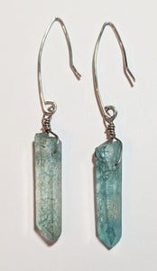 Blue Quartz Earrings - Sunroot Studio