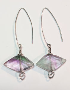 Rainbow Fluorite Earrings - Sunroot Studio