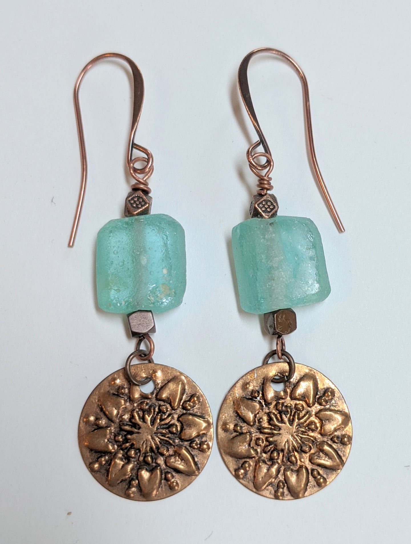 sunflower roman glass earrings - sunroot studio