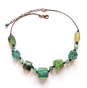Roman Glass & Apatite Necklace