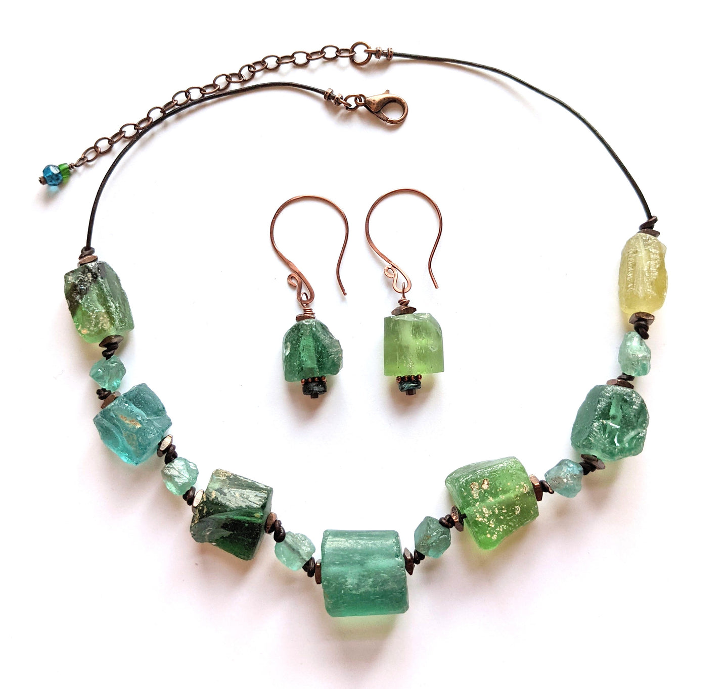 roman glass & apatite set