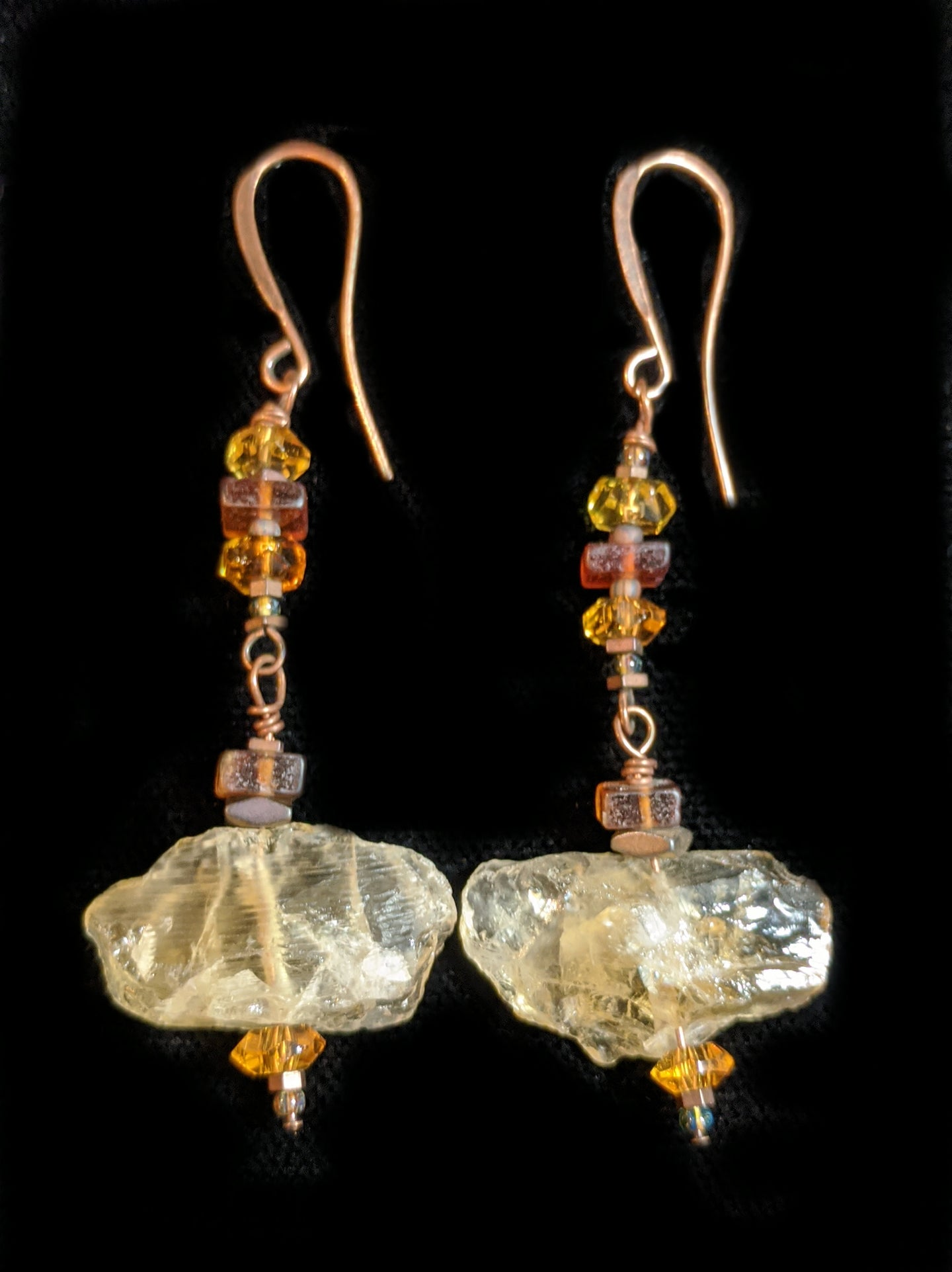citrine & topaz earrings - sunroot studio