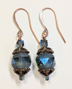 Smoky Czech Glass Earrings - Sunroot Studio