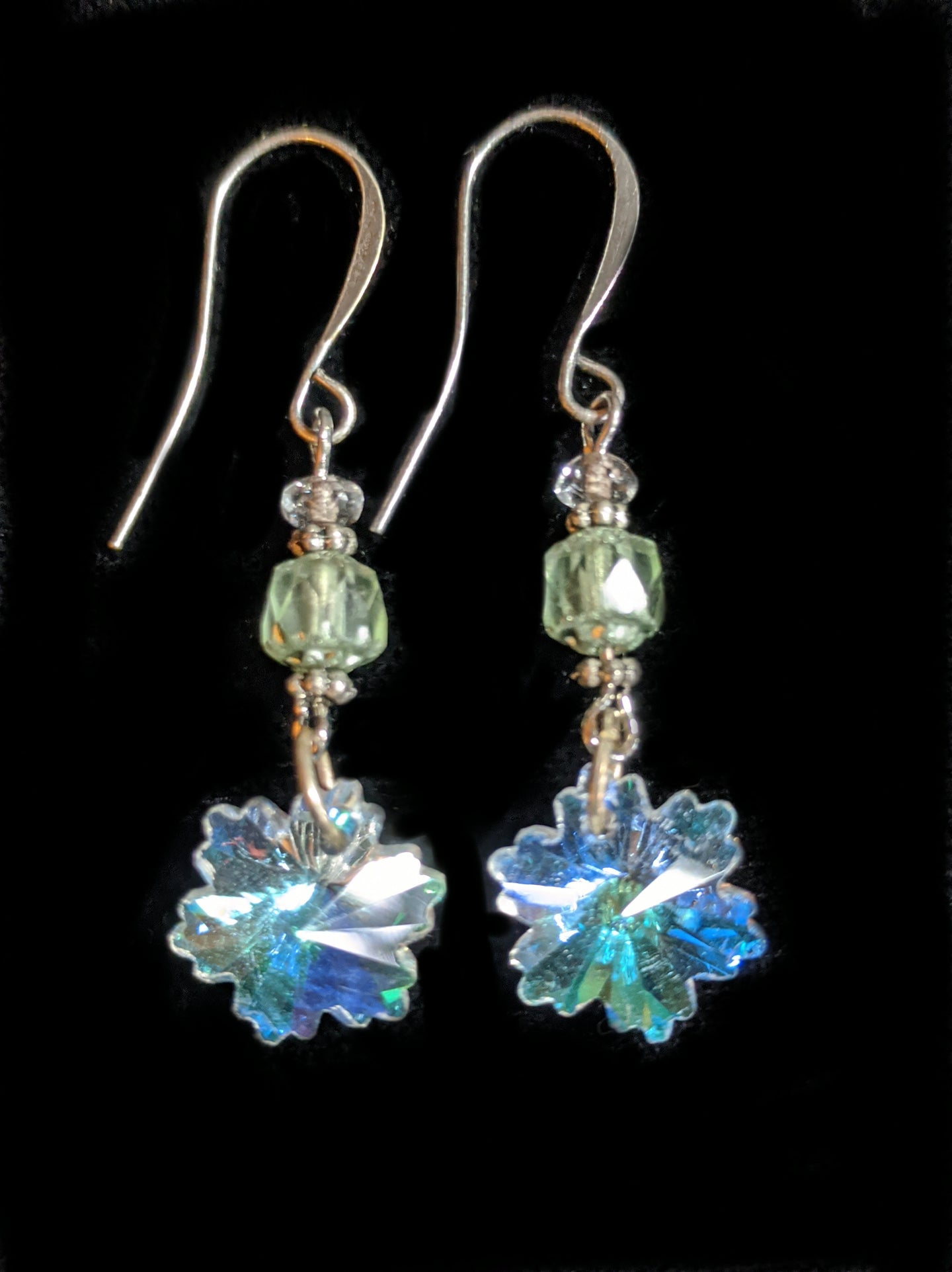 crystal snowflake earrings # 10 - sunroot studio