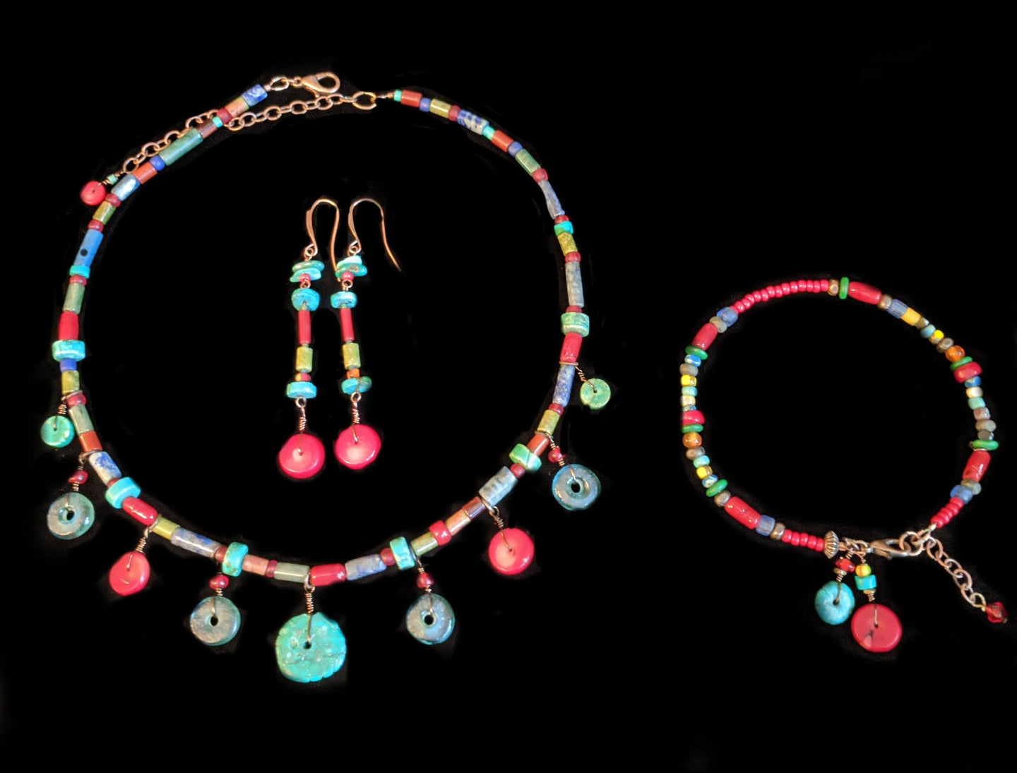 tribal mixed stones set - sunroot studio