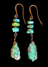 turquoise earrings - sunroot studio