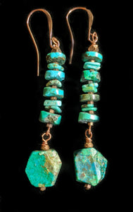 Copper Leaf & Apatite Necklace Set