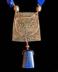 Copper Cat & Lapis Set