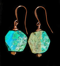 copper dill & chrysocolla set