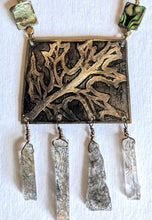 brass oak leaf & quartz set - sunroot studio
