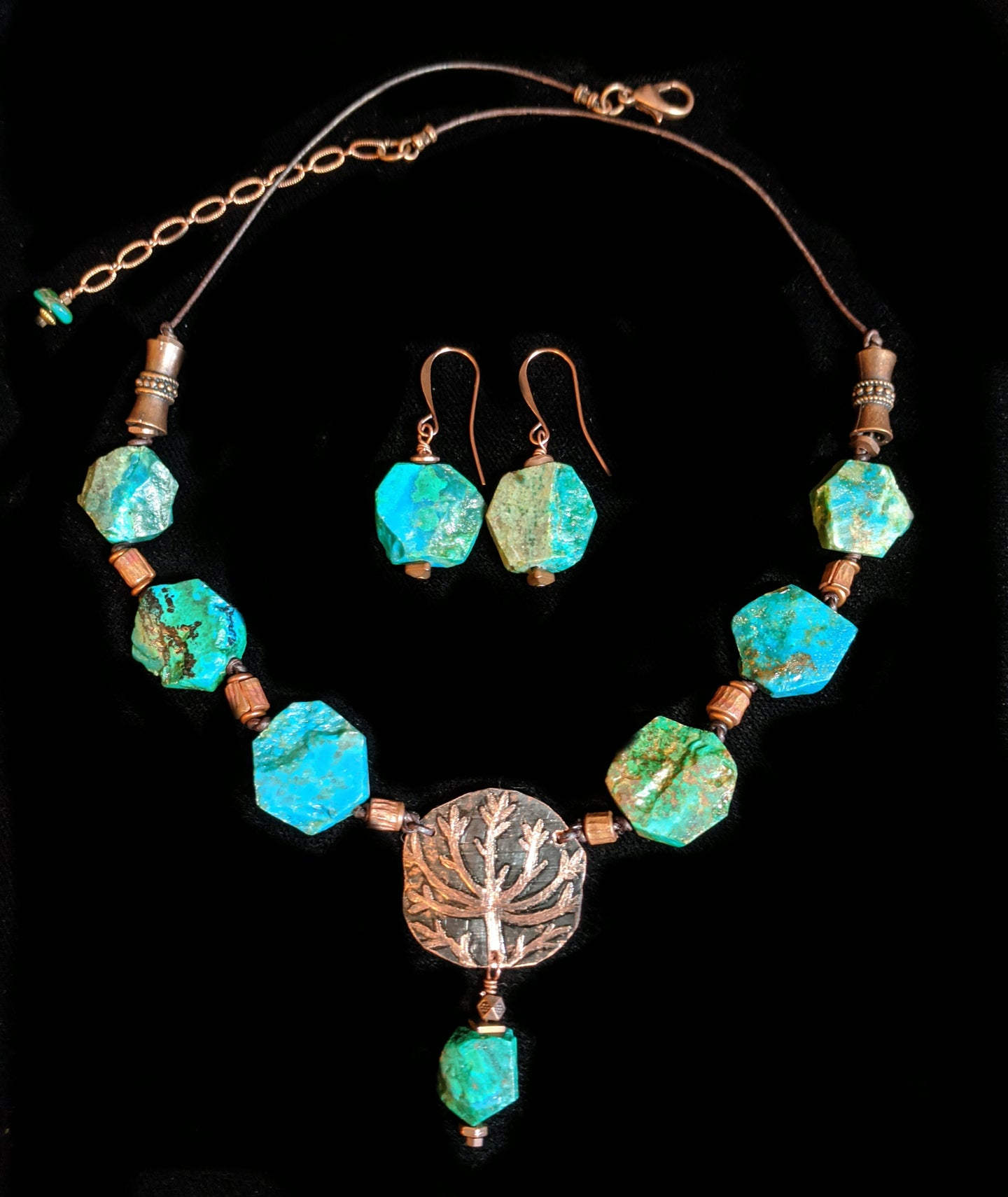 copper dill & chrysocolla set - sunroot studio