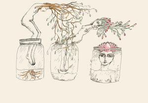 Jar Ladies Trees 2 - Sunroot Studio