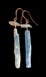 Copper Leaf & Kyanite Necklace Set