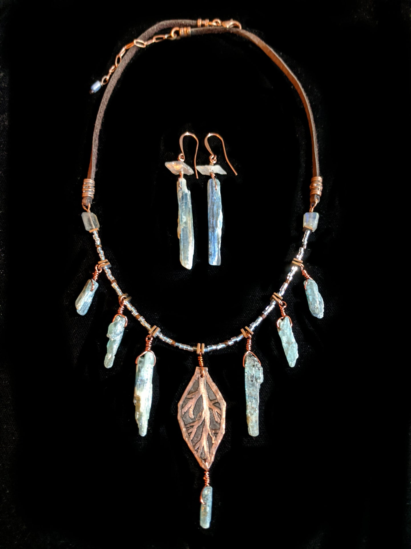 copper leaf & kyanite set - sunroot studio