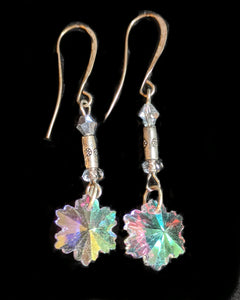 Crystal Snowflake Earrings # 2 - Sunroot Studio
