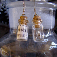 "Lisa Nordstrom - Earrings - Message in a Bottle ""WISH"""