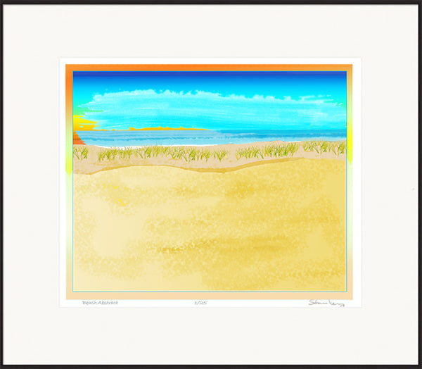 Robert Stanley - Beach Abstract  - Framed