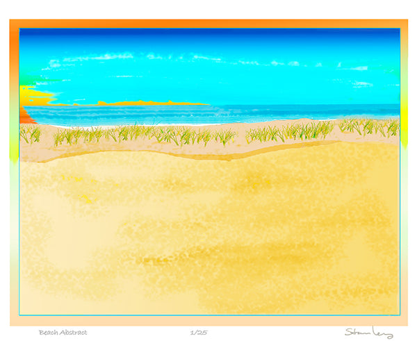 Robert Stanley - Beach Abstract signed  print