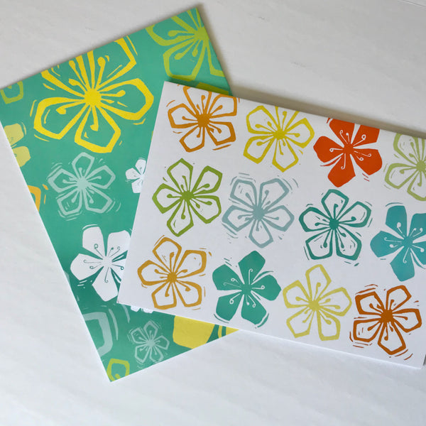 Judy Lynn - Set/8 Flower Power Notecards