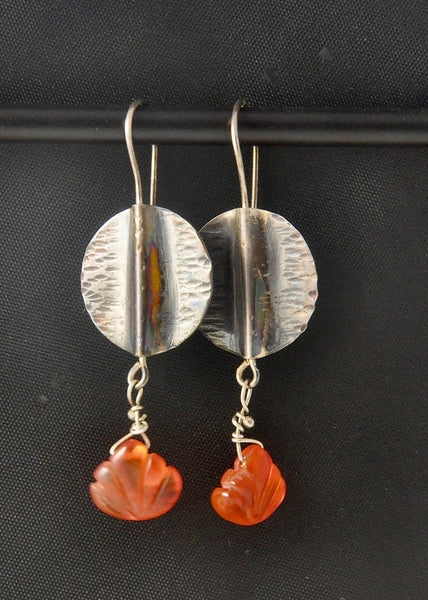 Lily Pai - Sterling and Carnelian Drop Earrings