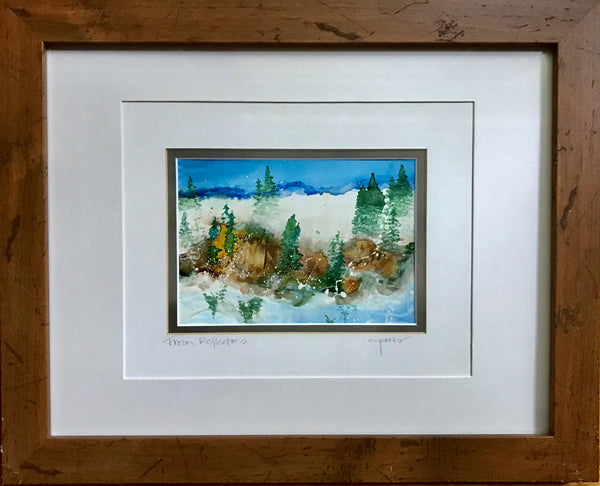 Mary Parks - Frozen Reflections - Alcohol Ink