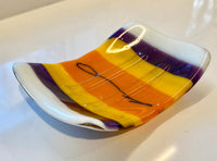 Caryn Brown - Soap Dish - Bright Stripes