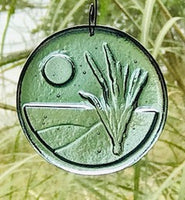 Caryn Brown - Moonlight Over Dunes Ornament- Aqua
