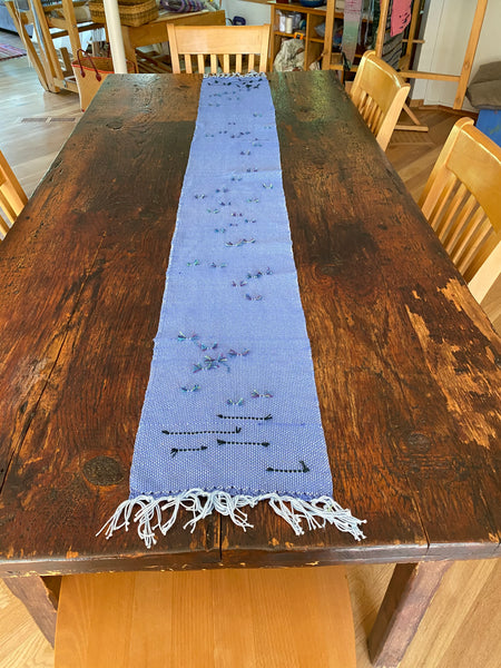 Table Runner - Blue Nubby