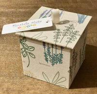 Paper Box with Herb Design in Natural Color - Medium