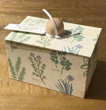Paper Box with Herb Design in Natural - Large