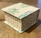 Paper Box with Herb Design and Yellow Polka Dots - Small