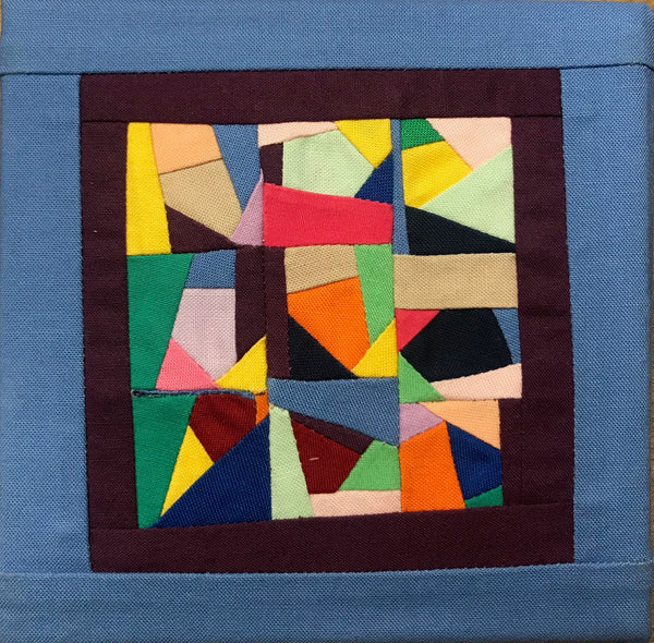 Michele Makinen - Hand-Sewn Blue Miniature Quilt - 5 X 5 Collection