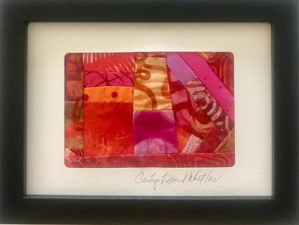 Carolyn Beard Whitlow - *Framed Small Quilt - Heat Wave