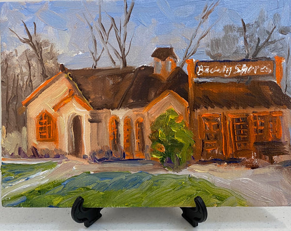 Julie Kasniunas - The Depot in Early Spring - Painting