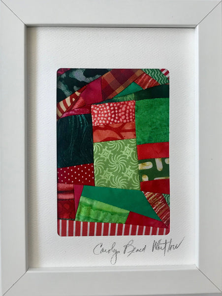 Framed Small Quilt - Snowflake - by Carolyn Beard Whitlow