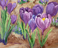 Julie Kasniunas - Painting - Purple Crocus