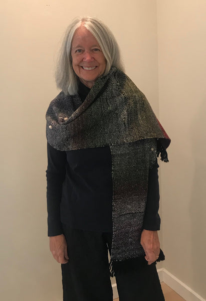 Suzy Vance - Shawl or Table Runner - Day Turns to Night Runner or Shawl